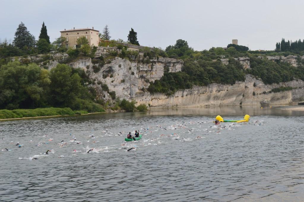 triathlon des gorges natation