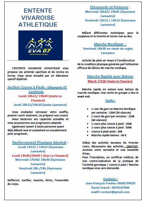 Programme EVA athletisme 2014
