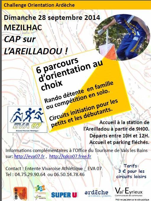 course d'orientation EVA Areilladou