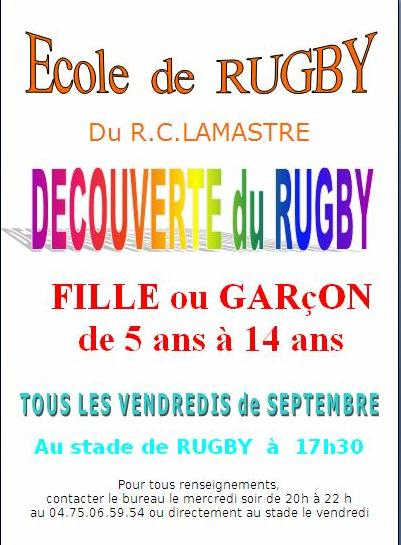 ecole rugby découverte lamastre