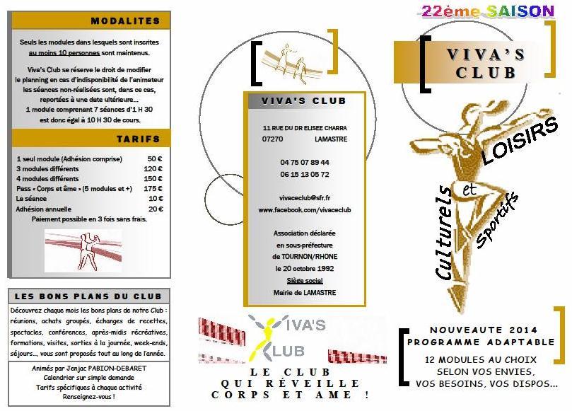reglement modalite Viva's 2014