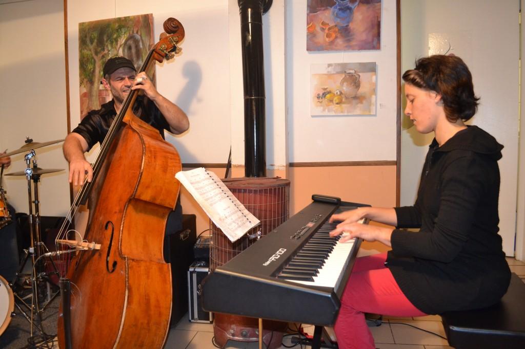 apéro  jazz Linda et François Gallix decembre marie café