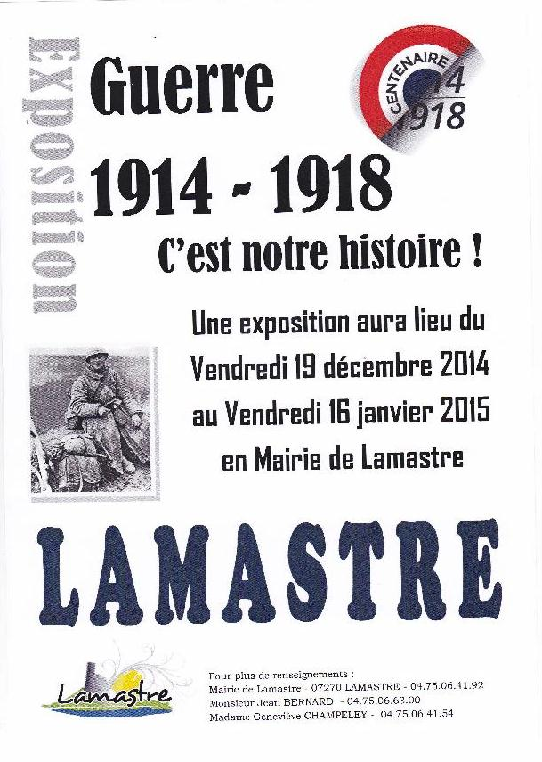 expo mairie 14 18 LAMASTRE champeley genevieve