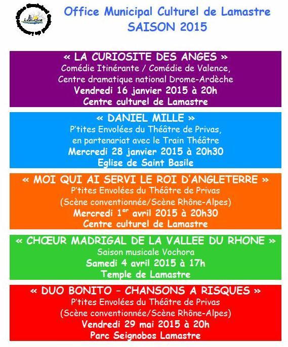 programme 2015  office M culture lamastre