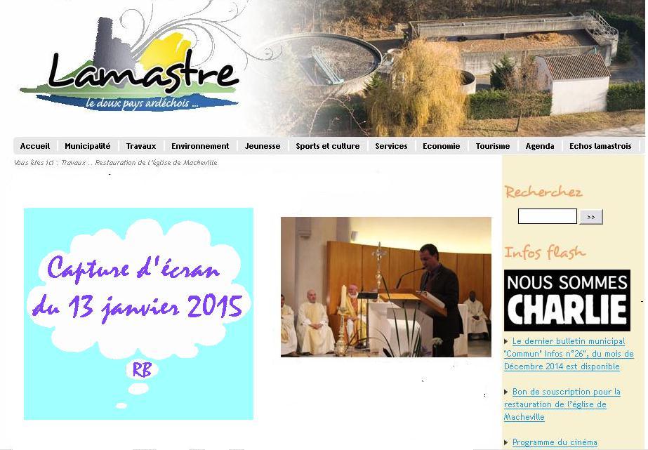 nous sommes Charlie Lamastre.fr capture d'écran .
