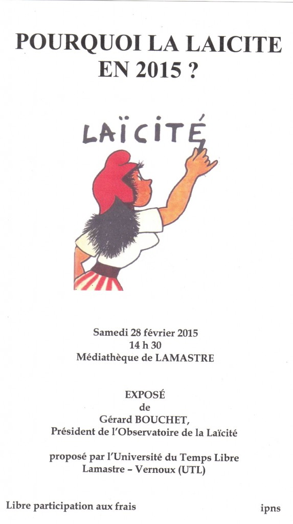 AFFICHE LAICITE lamastre