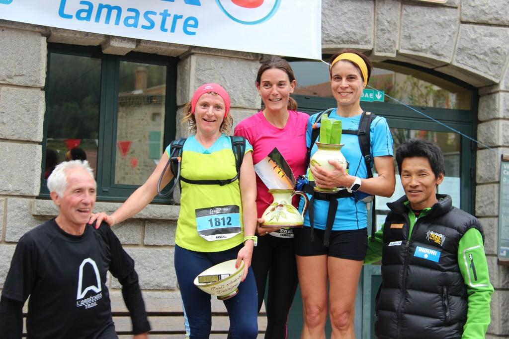 podium trail desaignes 20 KM 2015 sylviane boulon