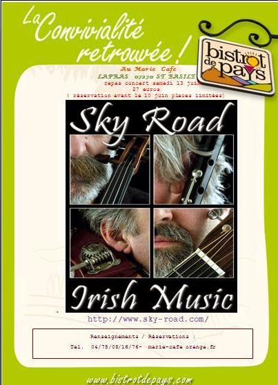 sky road irish music marie cafe