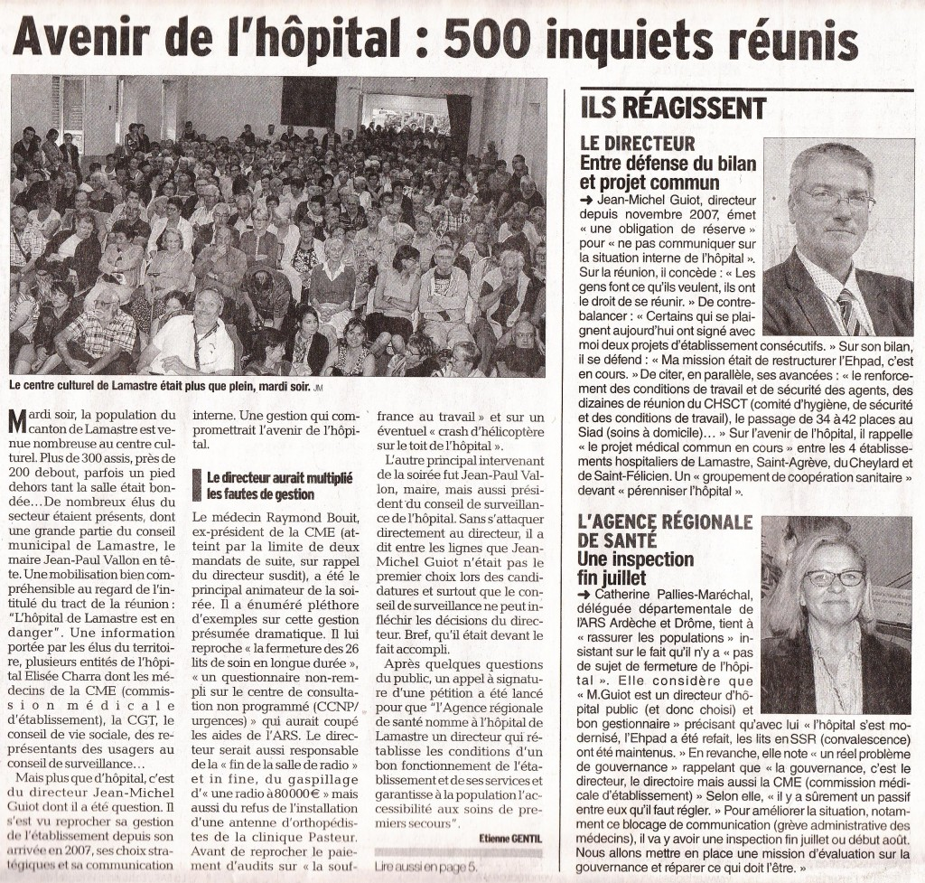 Dauphine libere 25 juin page 16 hopital lamastre f