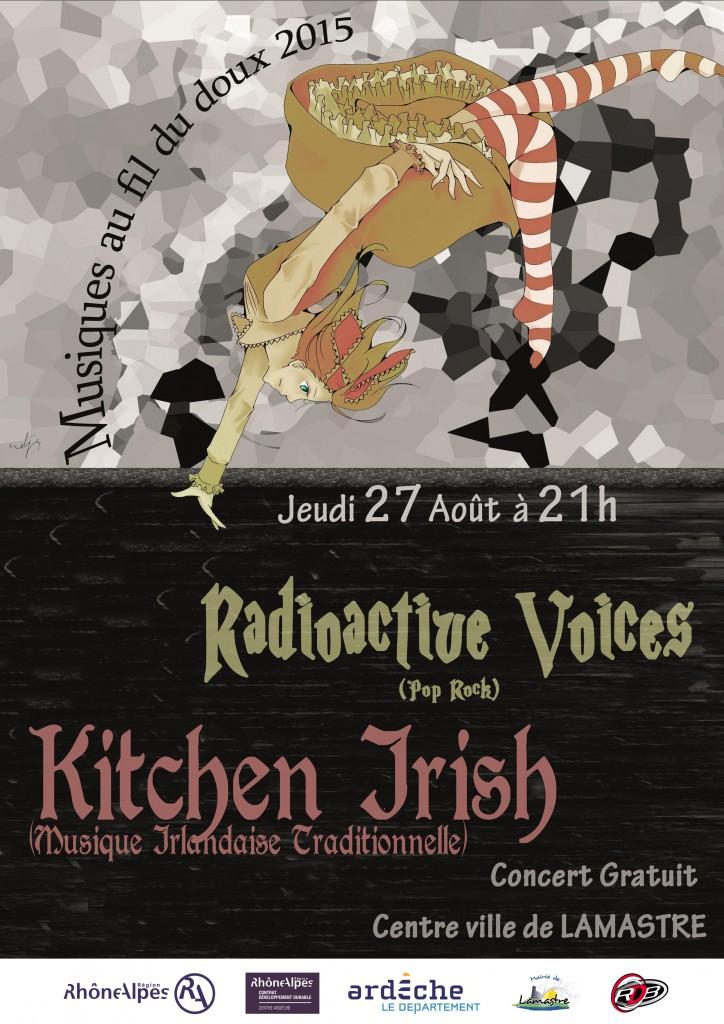 Affiche Radioactive Voices - ecole musique lamastre