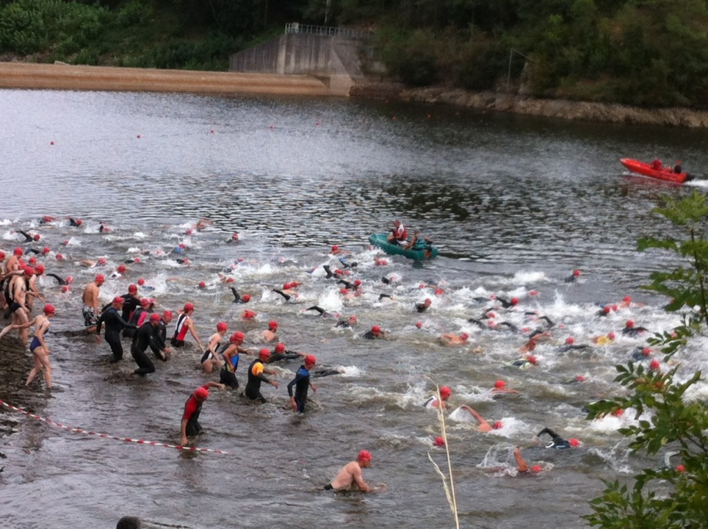 depart triathlon 2015 lac collanges le cheylard
