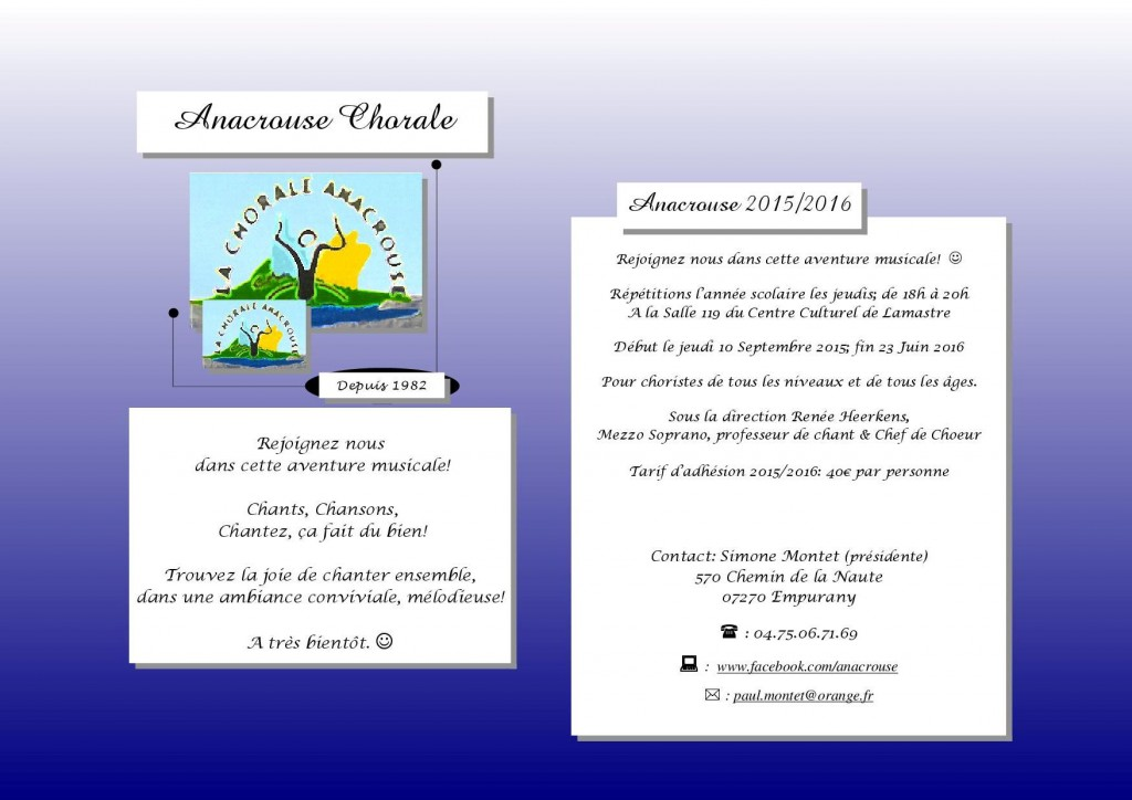 Anacrouse flyer 1 page