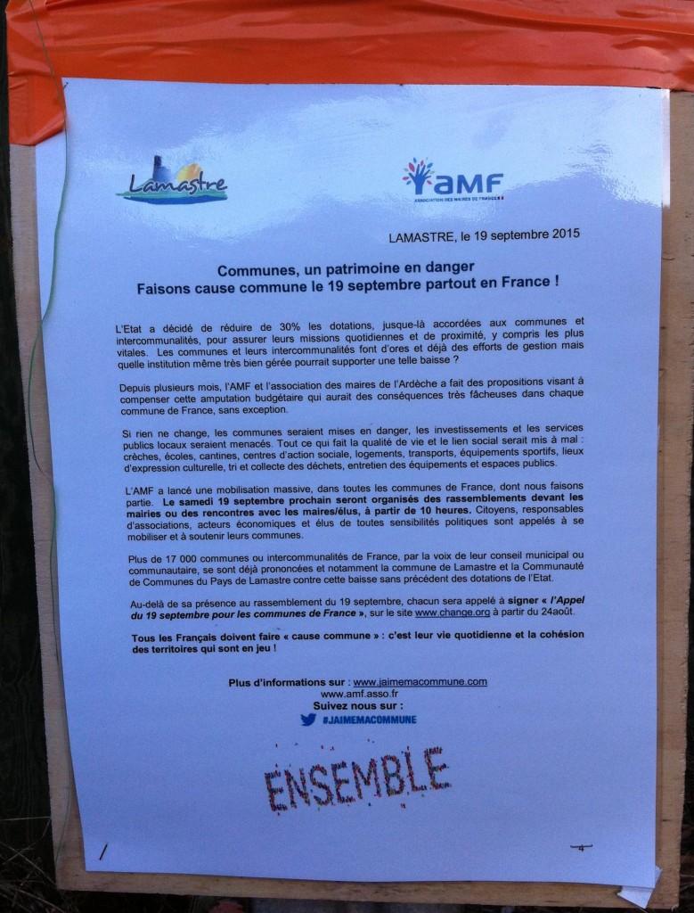 panneau assoc maire de france communiqué officiel