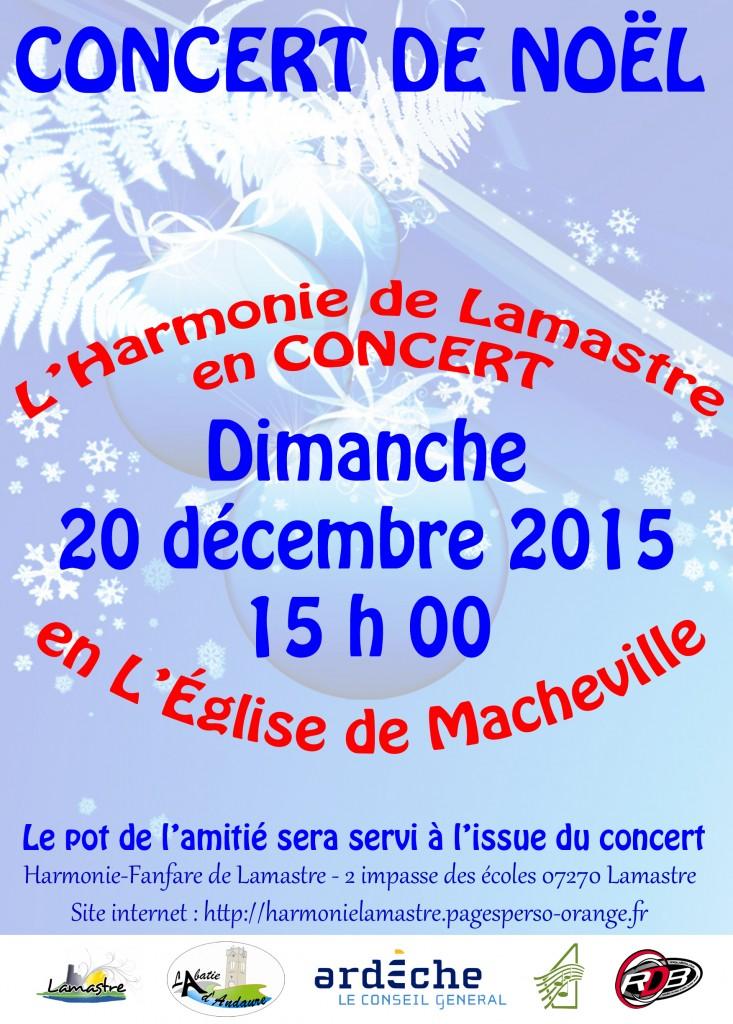 Harmonie Fanfare Lamastre - Concert Noel 2015 (Logos)