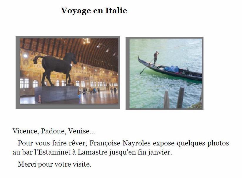 Voyage en italie francoise nayroles