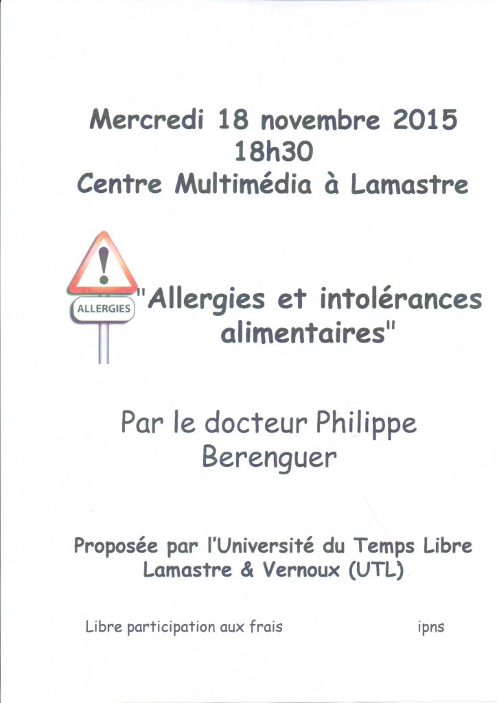 allergies intolérances alimentaires berenguer