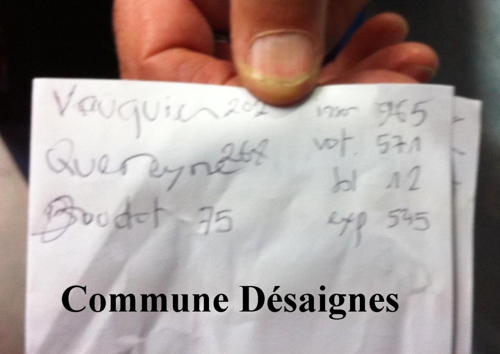 resultats régionales 2015 commune desaignes