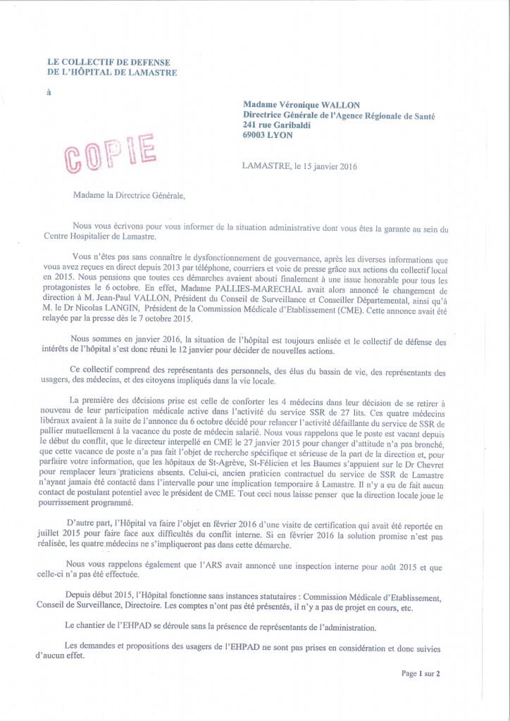 1 Lettre-Collectif défense hopital lamastre -Recto