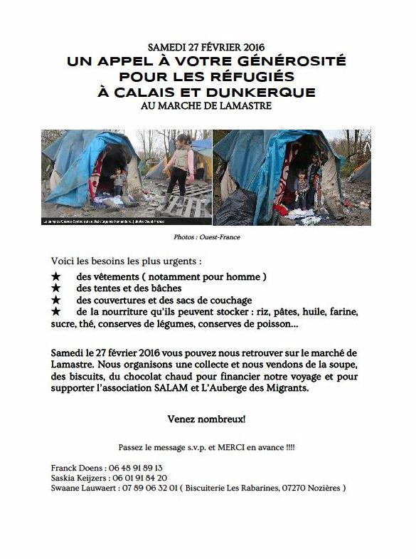 JUNGLE de Calais lamastre f