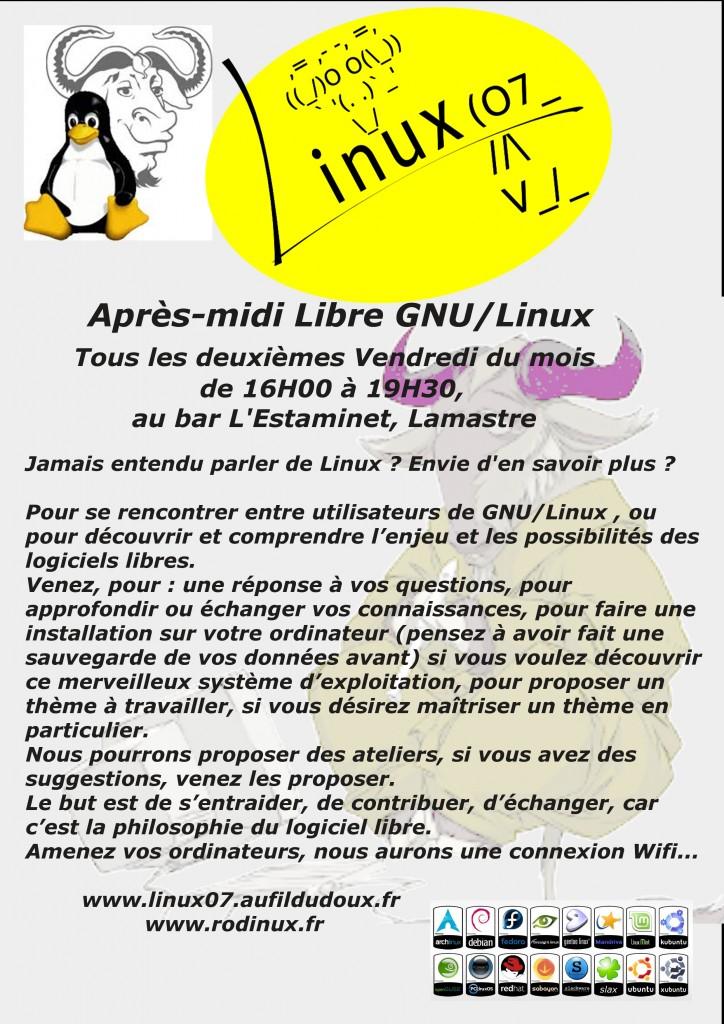 linux libre lamastre après midi