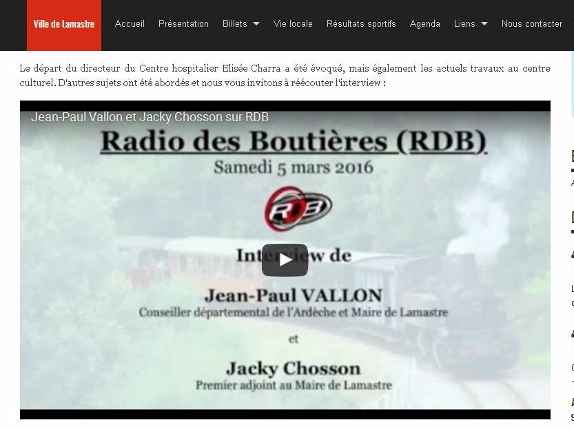 Radio boutieres Vallon fin conflit hôpital lamastre