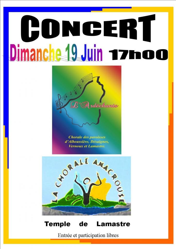 anacrouse chorale 19 juin 2016 temple lamastre