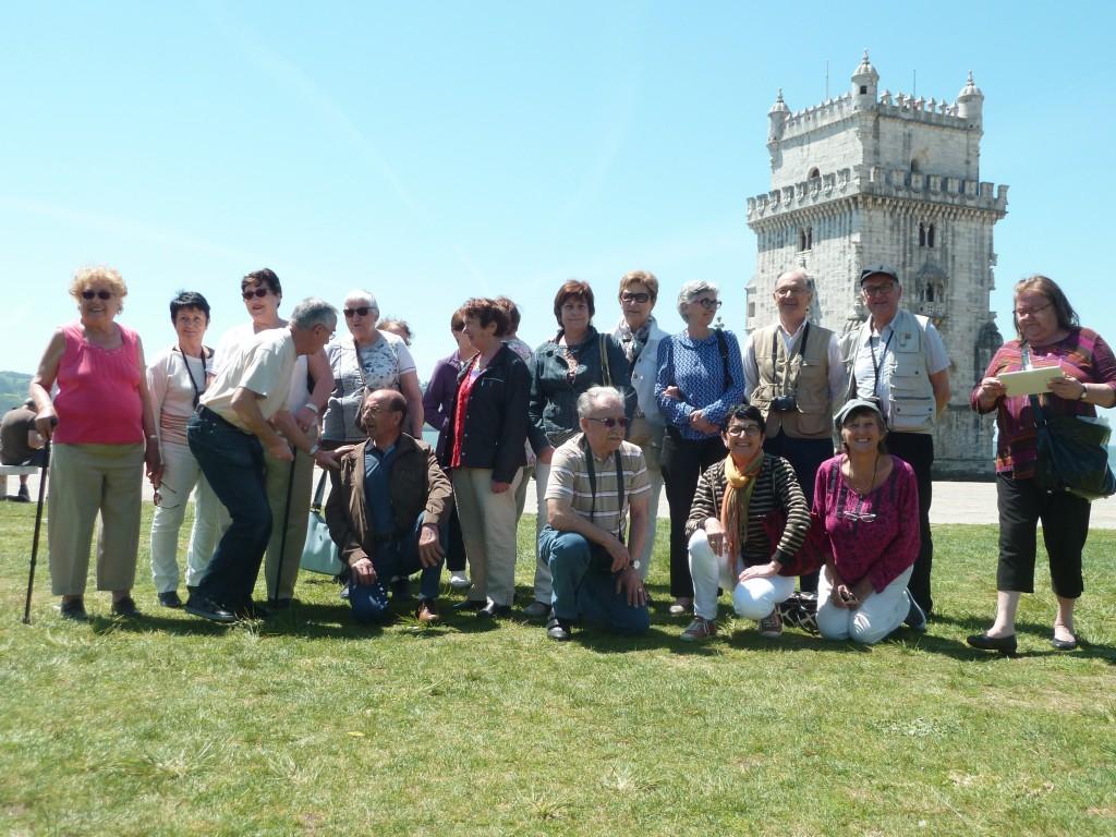 groupe UNRPA Lamatre tour de Belém Lisbonne.