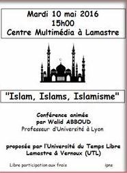 islam lamastre UTL conférence