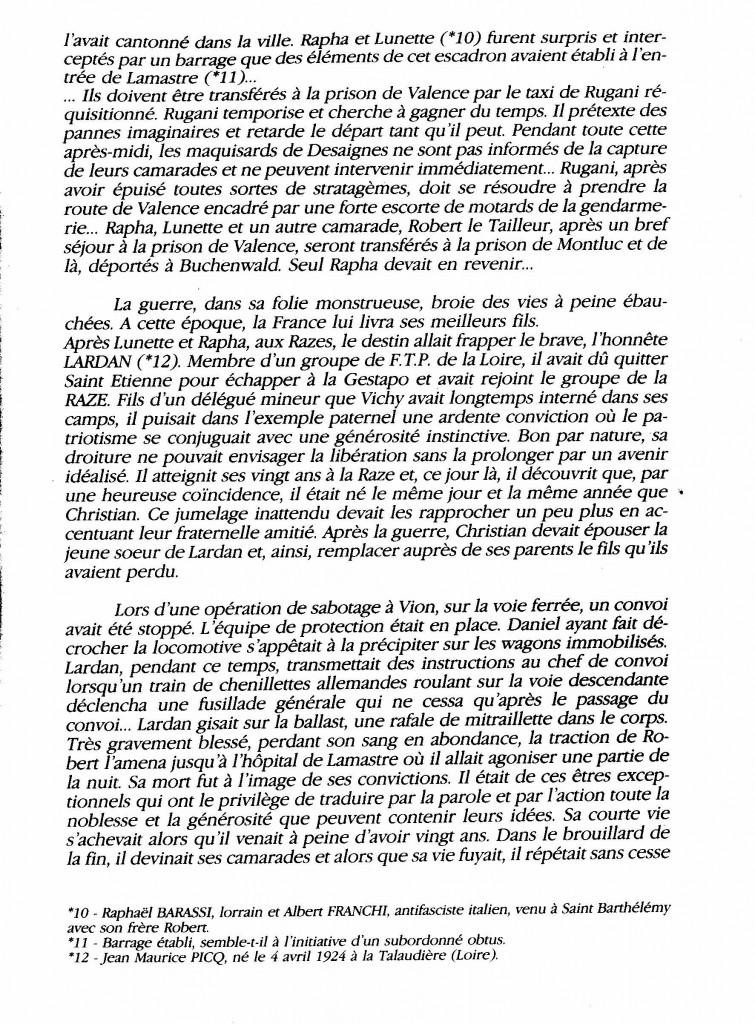 le maquis de la Raze Christian di sandro desaignes page histoire paul bouit 7