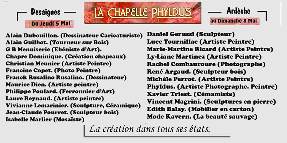participants chapelle phyldus 2016