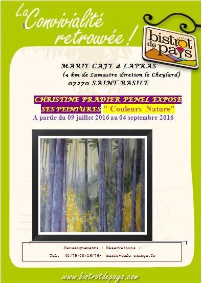 christine pradier penel peinture marie café F