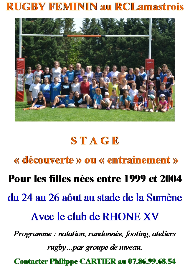 filles rugby club lamastre
