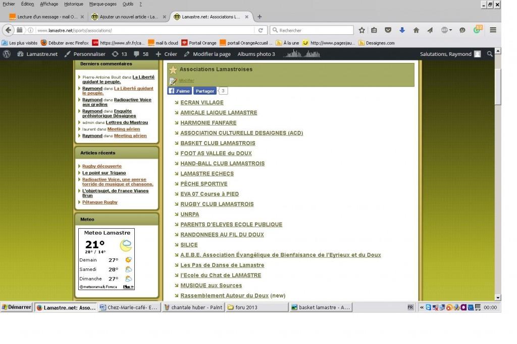 associations lamastroises lamastre.net