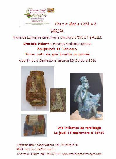 chantale hubert sculptures lamastre desaignes saint basile