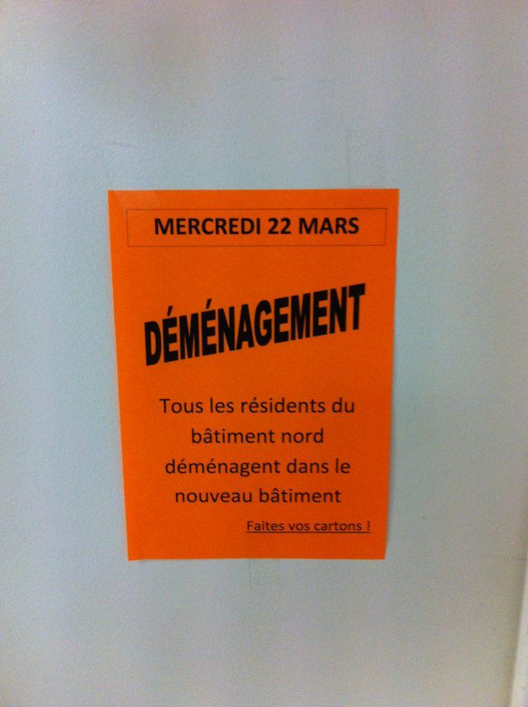 Affiche déménagement EHPAD LAMASTRE