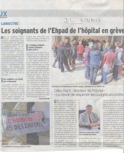 Dauphine libéré EHPAD lamastre grève et directeur gillles bach