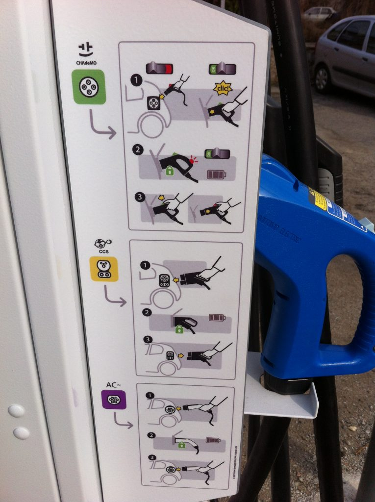 borne rechargement électrique MODE emploi lamastre