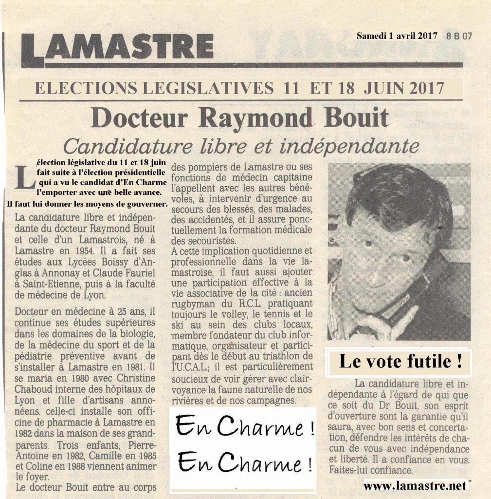 dauphine libere Bouit elections législatives
