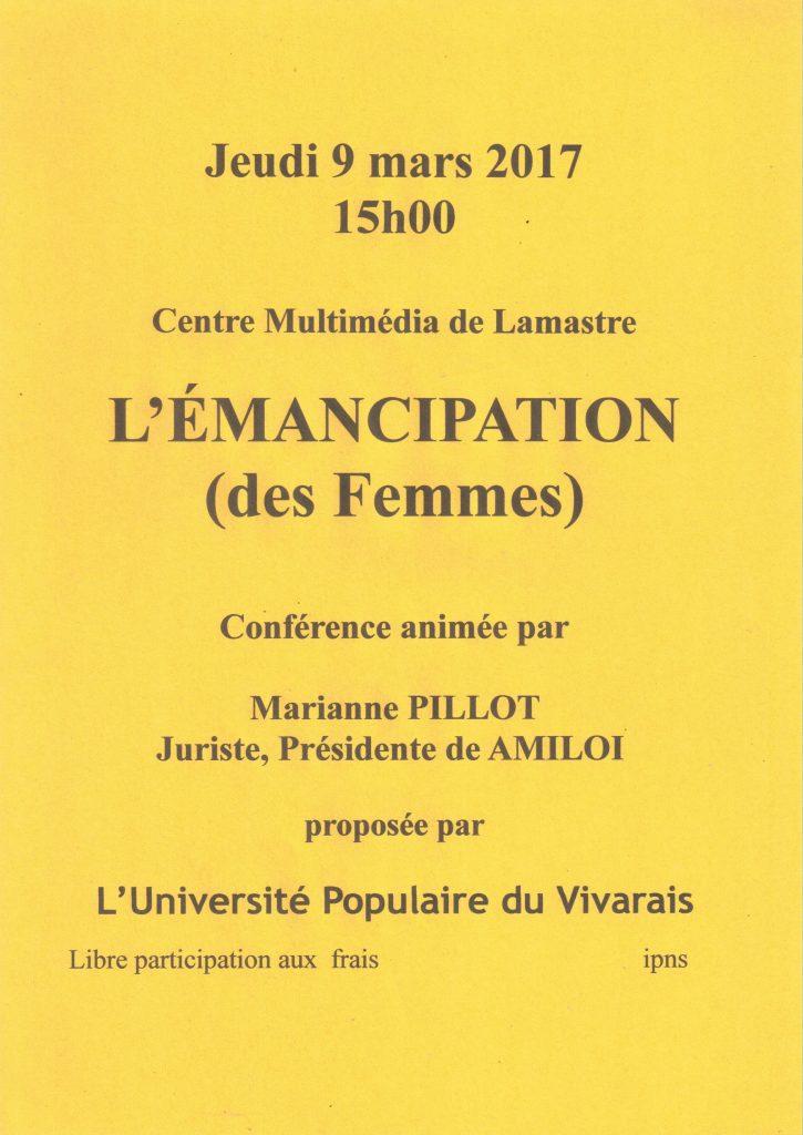 emancipation des femmes lamastre