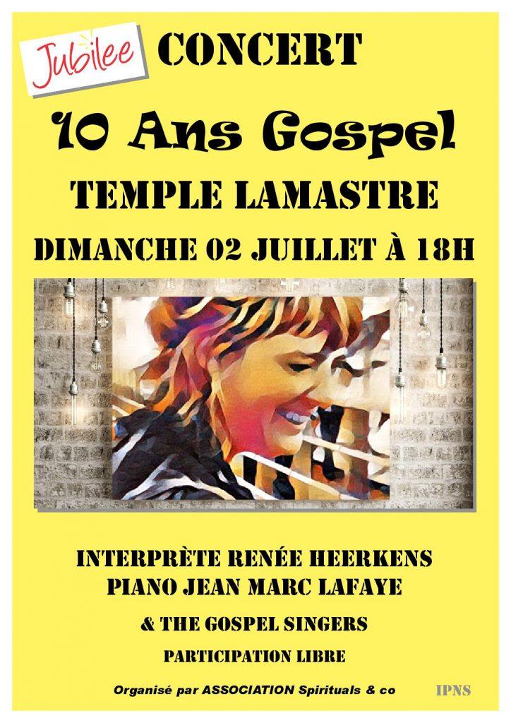2 Juillet 2017 LAMASTRE gospel renee heerkens