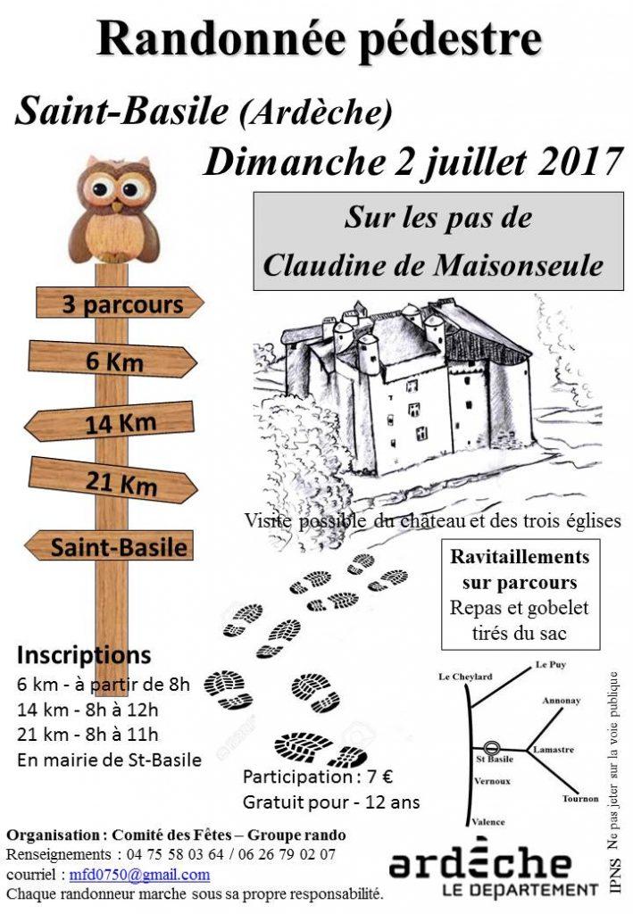 Flyer randonnee saint basile 2017