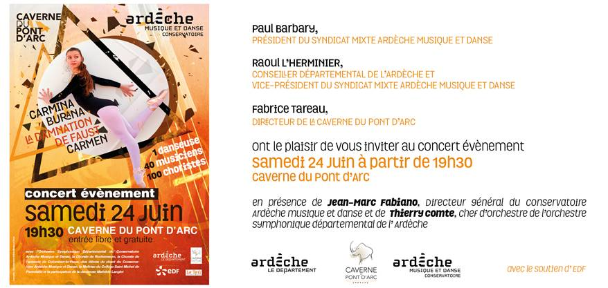 concert evenement caverne pont arc