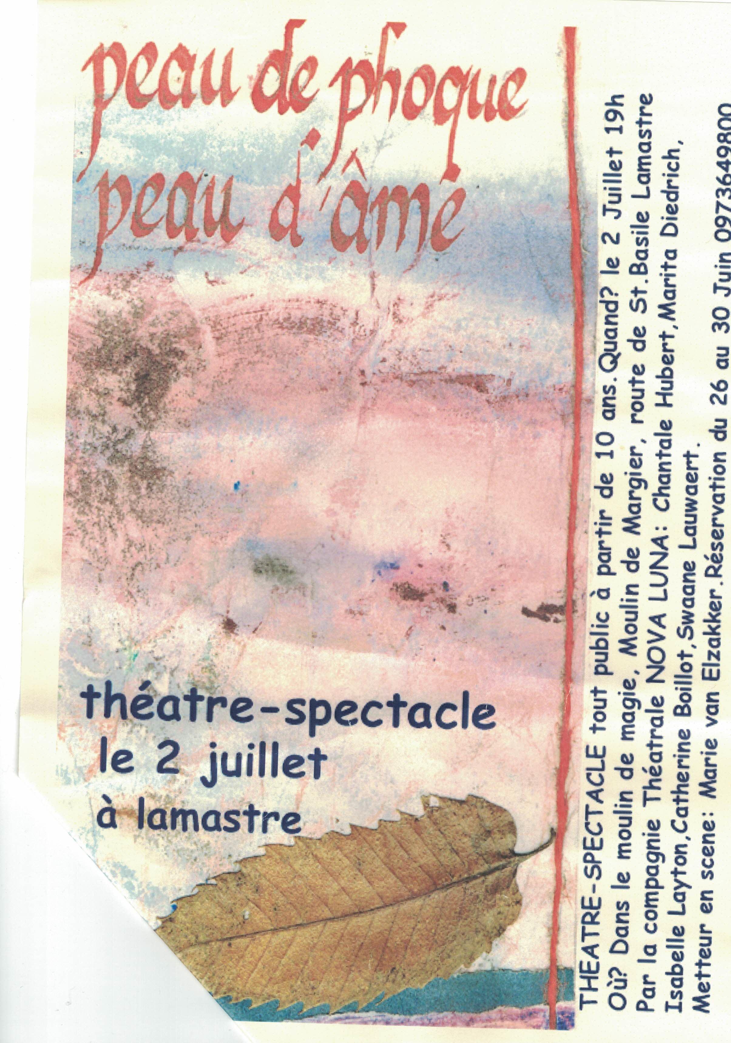 peau de phoque peau d'ame lamastre theatre