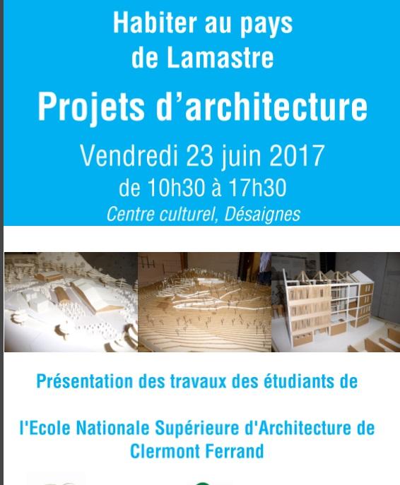 projet architecture pays de lamastre 2017