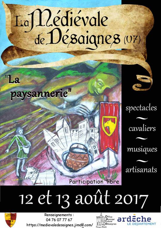 medievale desaignes 2017 affiche