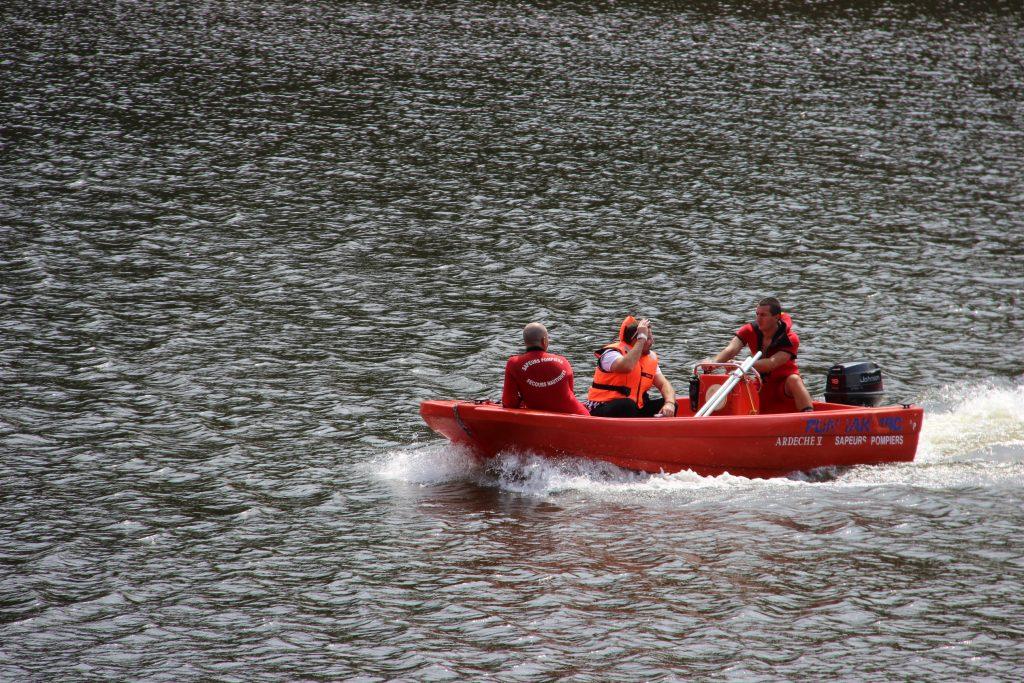 TRIATHLON 2017 LAMASTRE sapeurs pompier bateau
