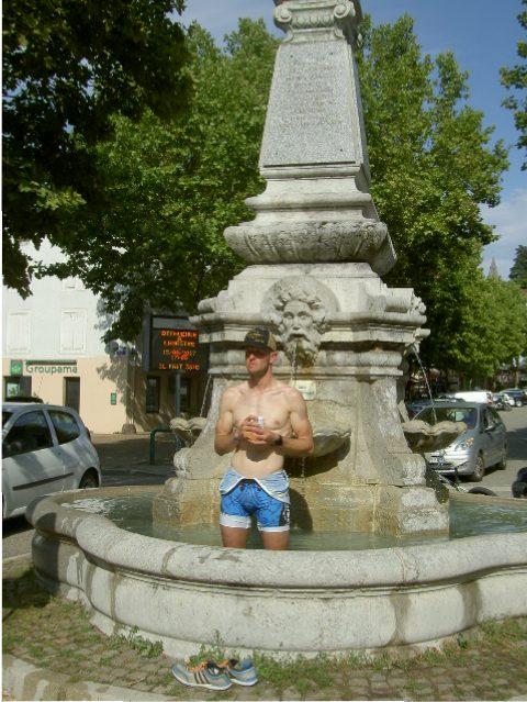 bain pied fontaine triathlon lamastre