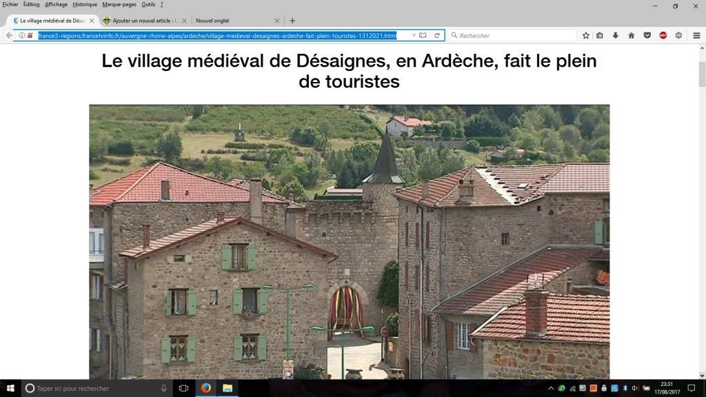 desaignes village caractere reportage FR3
