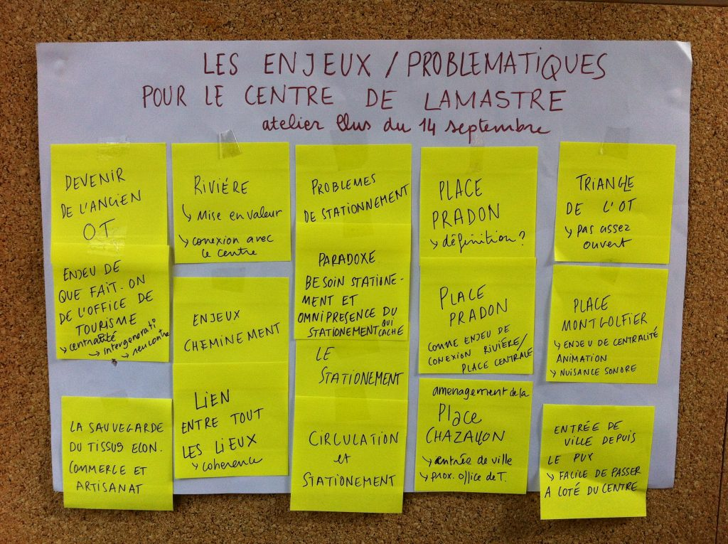 enjeux 3 places lamastre participatif
