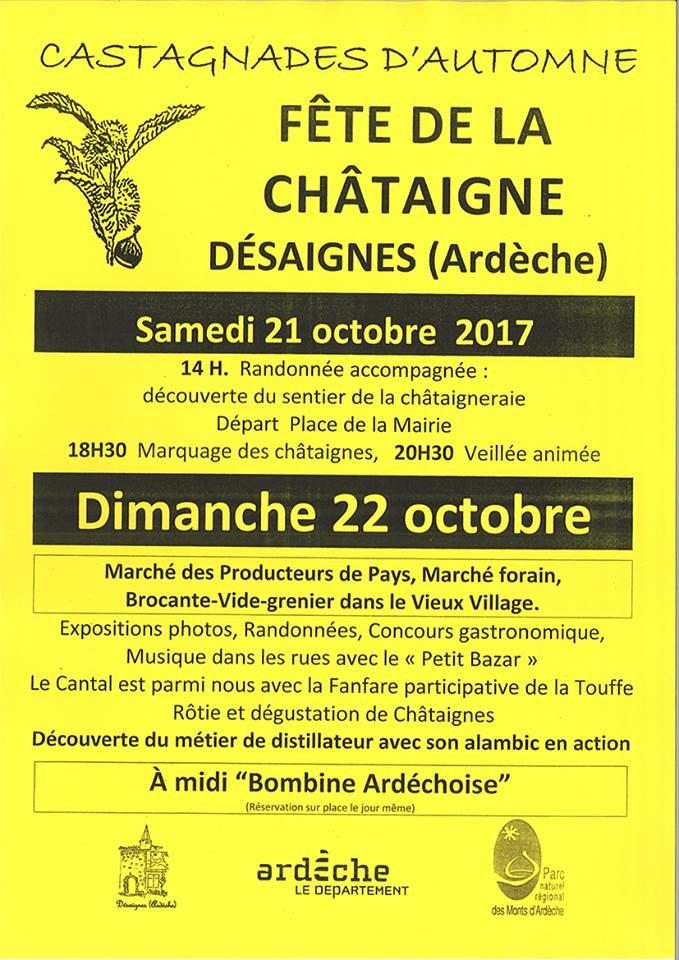 programme castagnades desaignes 2017